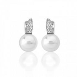 Pendiente perla con circonitas plata - 16356.01.2.000