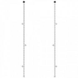 Pendiente Fierce silver PD PAOLA - AR02-049-U