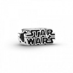 Star Wars logo sterling silver charm wit - 799246C01