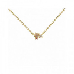 Collar Pd Paola plata chapada - CO01-175-U