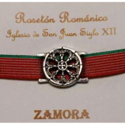 Pulsera Rosetón Latón con Cinta  Zamora