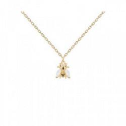 Collar Pd Paola plata chapada - CO01-233-U