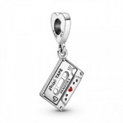 Cassette sterling silver dangle with red - 799295C01