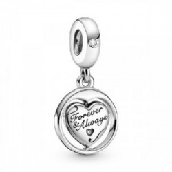 Heart sterling silver spinning dangle wi - 799266C01