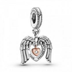 Heart and wings sterling silver and Pand - 789296C01