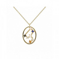 Collar Pd Paola horóscopo plata chapada - CO01-348-U