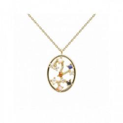 Collar Pd Paola horóscopo plata chapada - CO01-352-U
