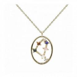 Collar Pd Paola horóscopo plata chapada - CO01-353-U