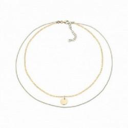 Collar astros, estrella Plata 1º ley (925 mls) chapado oro - 00508809