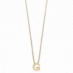 Colgante Alphabet G,++ dorado, 38 + 5 cm. Plata 1º ley (925 mls) chapado oro - 00507347