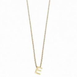 Colgante Alphabet E,38 + 5 cm Plata 1º ley (925 mls) chapado oro - 00507325