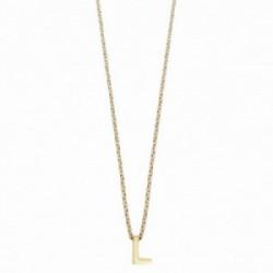 Colgante Alphabet L, dorado, 38 + 5 cm Plata 1º ley (925 mls) chapado oro - 00507329
