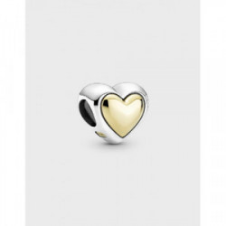 Heart sterling silver and 14k gold charm - 799415C00