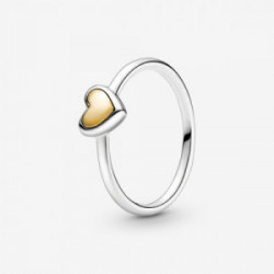 Heart sterling silver and 14k gold ring - 199396C00-54