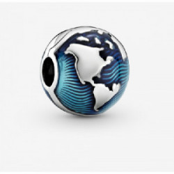 Globe sterling silver clip with transpar - 799429C01