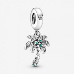 Palm tree sterling silver dangle with cl - 799438C01