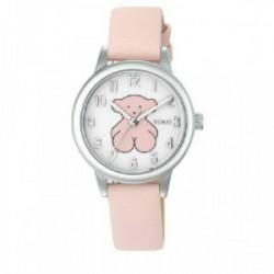 Reloj de mujer Tous New Muffin de acero con correa de piel rosa - 000351435