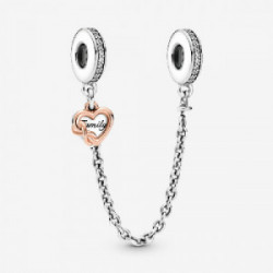 Heart and infinity sterling silver and P - 789541C01-05