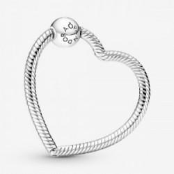 Heart sterling silver Pandora O holder - 399505C00