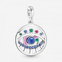 Eye sterling silver medallion with stell - 799668C01