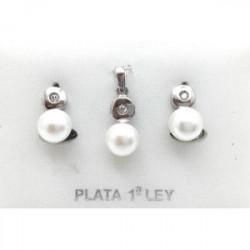 Colgante Plata y Perla