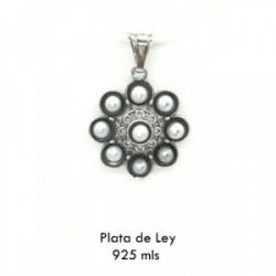 Colgante charro perlas plata 925m - S1347