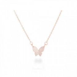 Collar Plata, Oro Rosa - PV014R0000