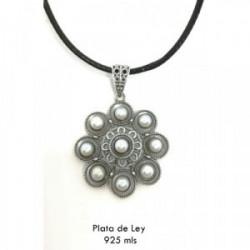 Colgante charro con perla y cuero - S1348