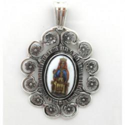Medalla Plata Virgen del Templo 47mm - ME031-EL TEMPLO