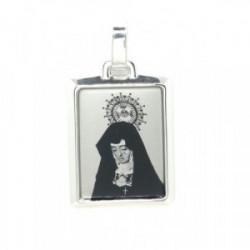 Placa de Plata con  Virgen de la Soledad - P-16-3