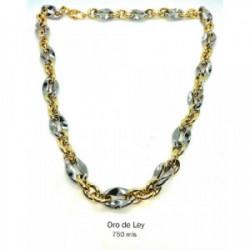 Collar oro bicolor 18 k