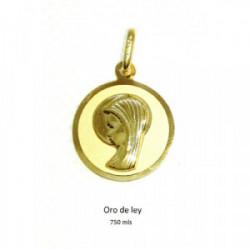 Medalla Virgen Niña 18 k