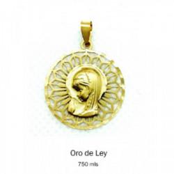 Medalla Redonda Oro Amarillo