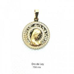 Medalla redonda filo brillo