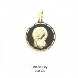 Medalla redonda oro amarillo sin filo