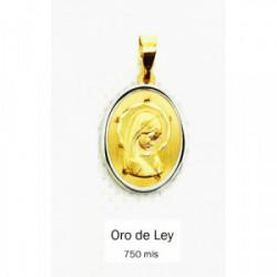 Medalla Virgen Ovalada Oro