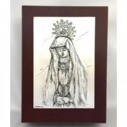 Joyero Virgen de la Soledad Zamora 10cm x15cm - 4909 JC