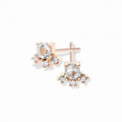 Pendientes Aurum 18 K, diamante-topacio- - 00507377