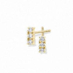 Pendientes Aurum 18K tres diamantes en l - 00507386