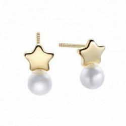 Pendiente Kids&Baby estrella y perla oro - 00507285