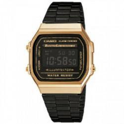 Reloj Casio Unisex A168WEGB-1BEF. Es un reloj Casio para hombre o mujer, es unisex, analógico, realizado en resina y acero hipoa