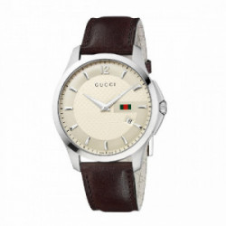 GUCCI TIMELESS LG IVORY STEEL BROWN - YA126303