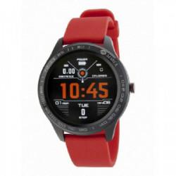 Reloj inteligente para hombre de la marca Marea con correa de silicona azul. Este smartwatch cuenta con las siguientes funci