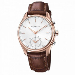 KRONABY Sekel 43 Rose - Silver, Brown Le - S2746/1