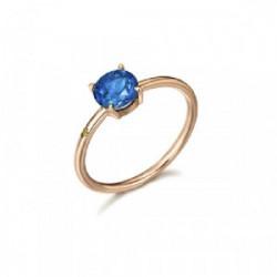 Anillo con Topacio London Blue y diamant - GA030TL.13
