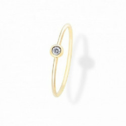 Anillo Aurum 18 K, chaton de diamante - 00507370