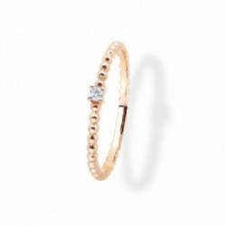 Anillo Aurum 18 K, chaton de diamante - 00507381