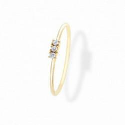 Anillo Aurum 18K tres diamantes en linea - 00507385