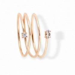 Anillo triple Aurum 18K, diamante y topa - 00507394
