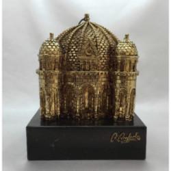 Cúpula Catedral 18 cm Chapado en Oro Envejecido - PC75-O